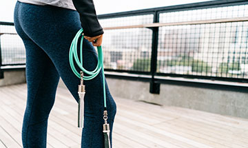 how to adjust weighted jump rope