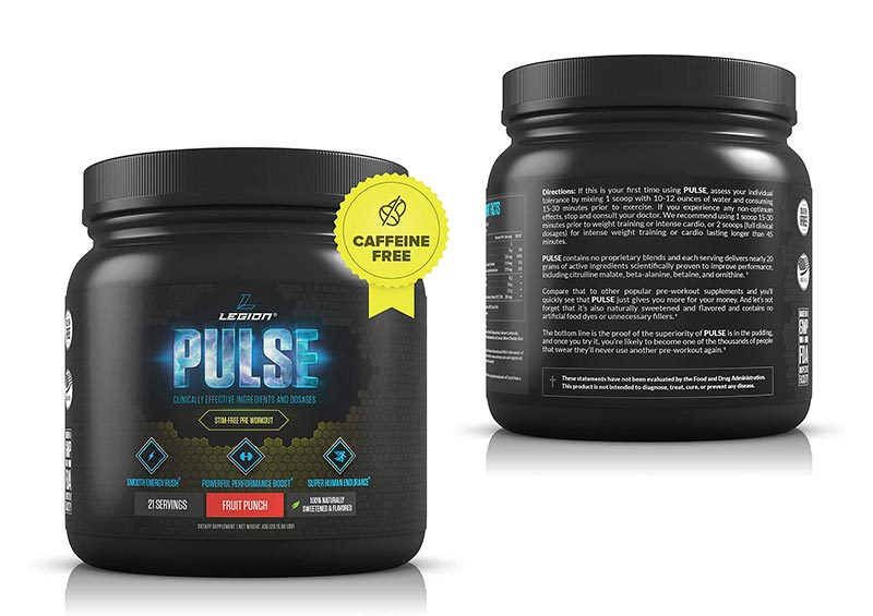 Legion Pulse, Best Caffeine Free Natural Pre Workout Supplement
