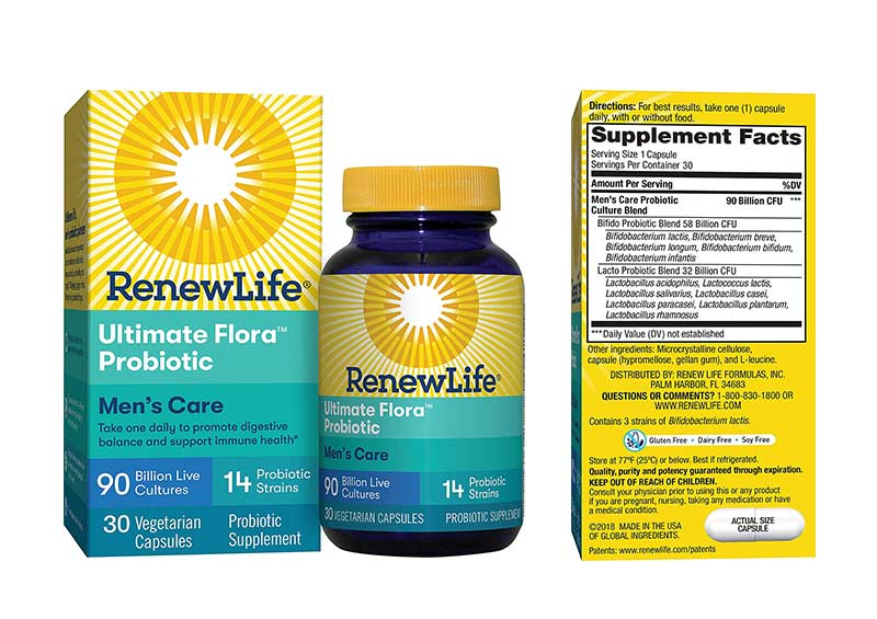 Renew Life Adult Probiotic - Ultimate Flora Men's Care Probiotic Supplement