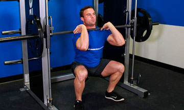 smith machine front squats